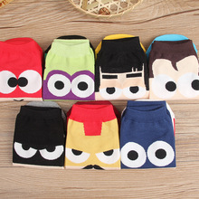 New trend socks personality superhero Superman Batman design cartoon fashion pure cotton