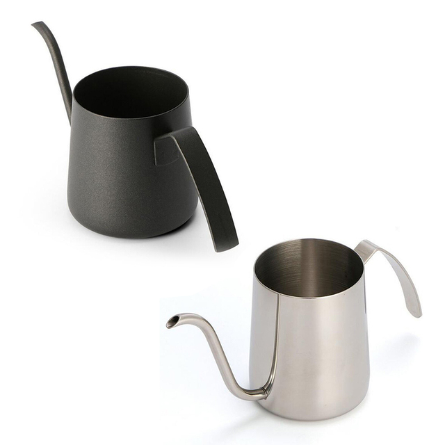 250ml 350ml Gooseneck Spout Coffee Kettle Tea Pot Pour Over Thick Stainless Steel Teflon Coating Long Mouth Drinkware Not RUST 6