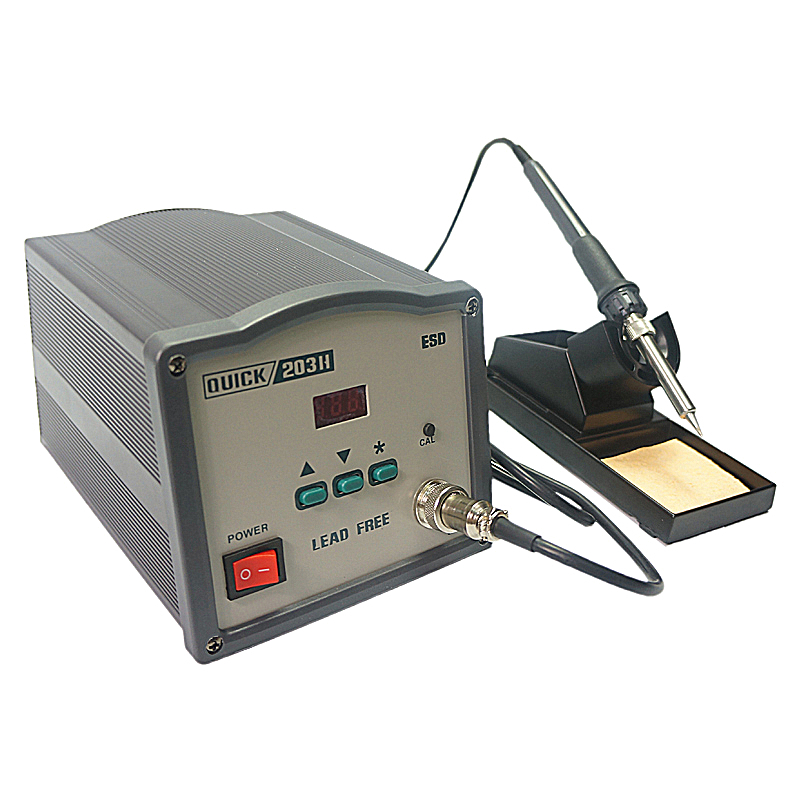 QUICK 203H 203H high frequency digital SMD soldering station iron 90W Intelligent Lead-freeQUICK 203H 203H high frequency digital SMD soldering station iron 90W Intelligent Lead-free