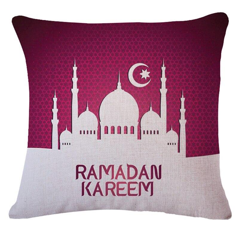Ramadan De corations Throw Pillow Cover 45x45cm Throw Pillows Capas De Almofadas Decorativas Custom Made Drop Shipping