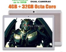 10 pulgadas Android Tablet Octa core 4 GB RAM 64 GB ROM 8 Núcleos Cámaras Duales 5.0MP 1280*800 IPS WiFi GPS Tabletas + Regalos