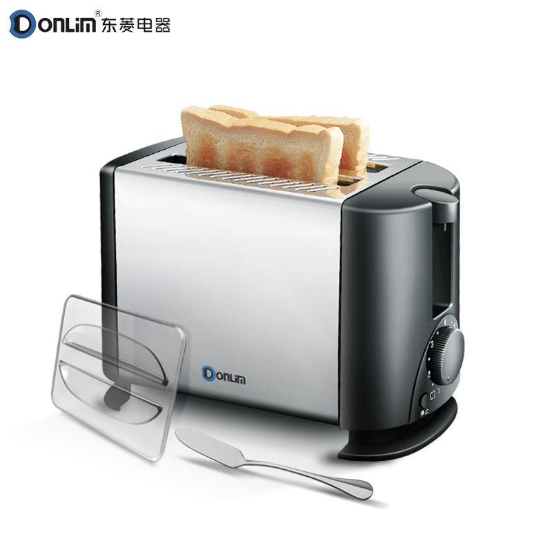 Donlim toaster 2 Slicers Toaster Household automatic bread machine Stainless steel bread maker