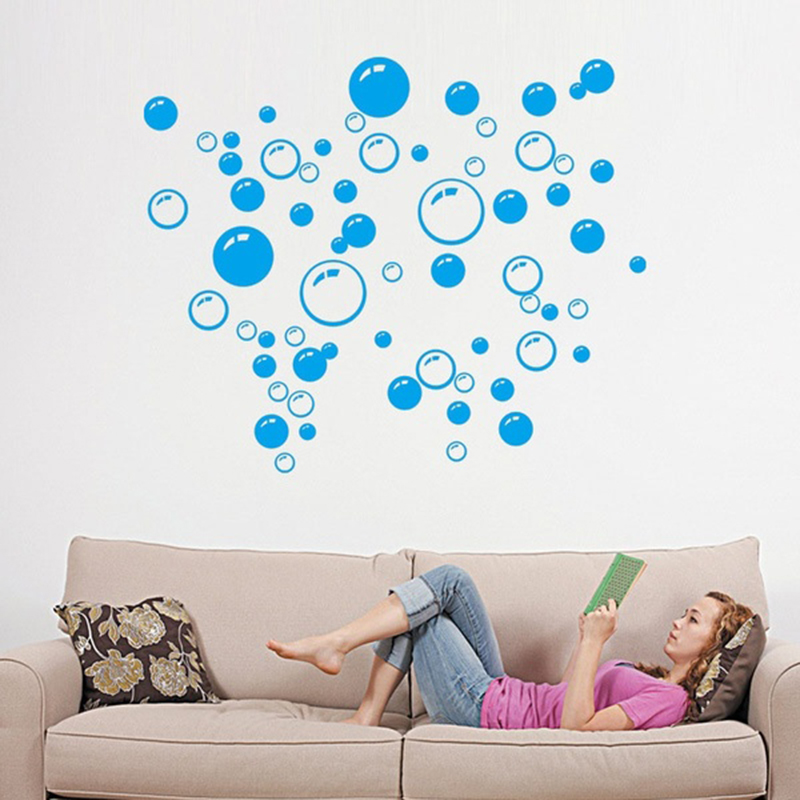 2017 New Black/Rose Red/blue Bubble Wall sticker Wallpaper wall decals washroom Decoration -in Wall Stickers from Home u0026 Garden on Aliexpress.com | Alibaba ...  sc 1 st  AliExpress.com & 2017 New Black/Rose Red/blue Bubble Wall sticker Wallpaper wall ...