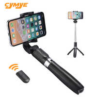 Cymye selfie stick L01 3 en 1 inalámbrico Bluetooth plegable trípode de mano