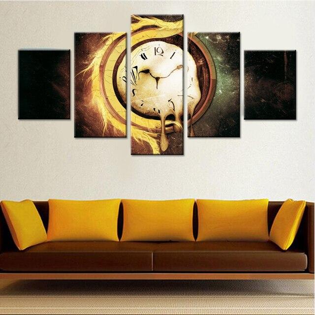 Время плавления холст набор Настенный декор Гостиная фотографии модульный Картины на стене Книги по искусству Картины абстрактный Прямая доставка