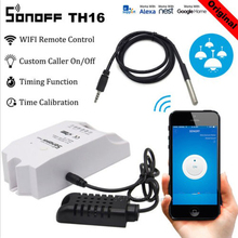 Sonoff TH16 Smart Wifi Switch Monitoring Temperature Humidity Wireless Wifi Smart Switch Home Automation Work with Alexa