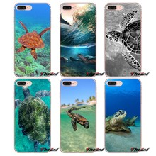Sea Turtle Reptile Mania TPU Caso Do Silicone Para o iphone X 4 4S 5 5S 5C SE 6 6 S 7 8 Plus Samsung Galaxy J1 J3 J5 J7 A3 A5 2016 2017(China)