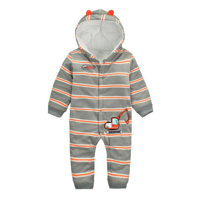 Autumn/Winter Baby Romper New Born Baby Thick Ropa Baby Boys Long-Sleeve Fleece Jumpsuit Warm bodykits For Little boys