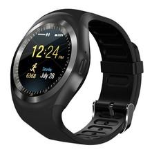 Y1 plus Bluetooth smart watch mężczyźni kobiety Relogio SmartWatch telefon z systemem Android otrzymać telefon zwrotny od Sim GSM zdalnego kamera aparat informacje sport krokomierz tanie tanio Eshowee