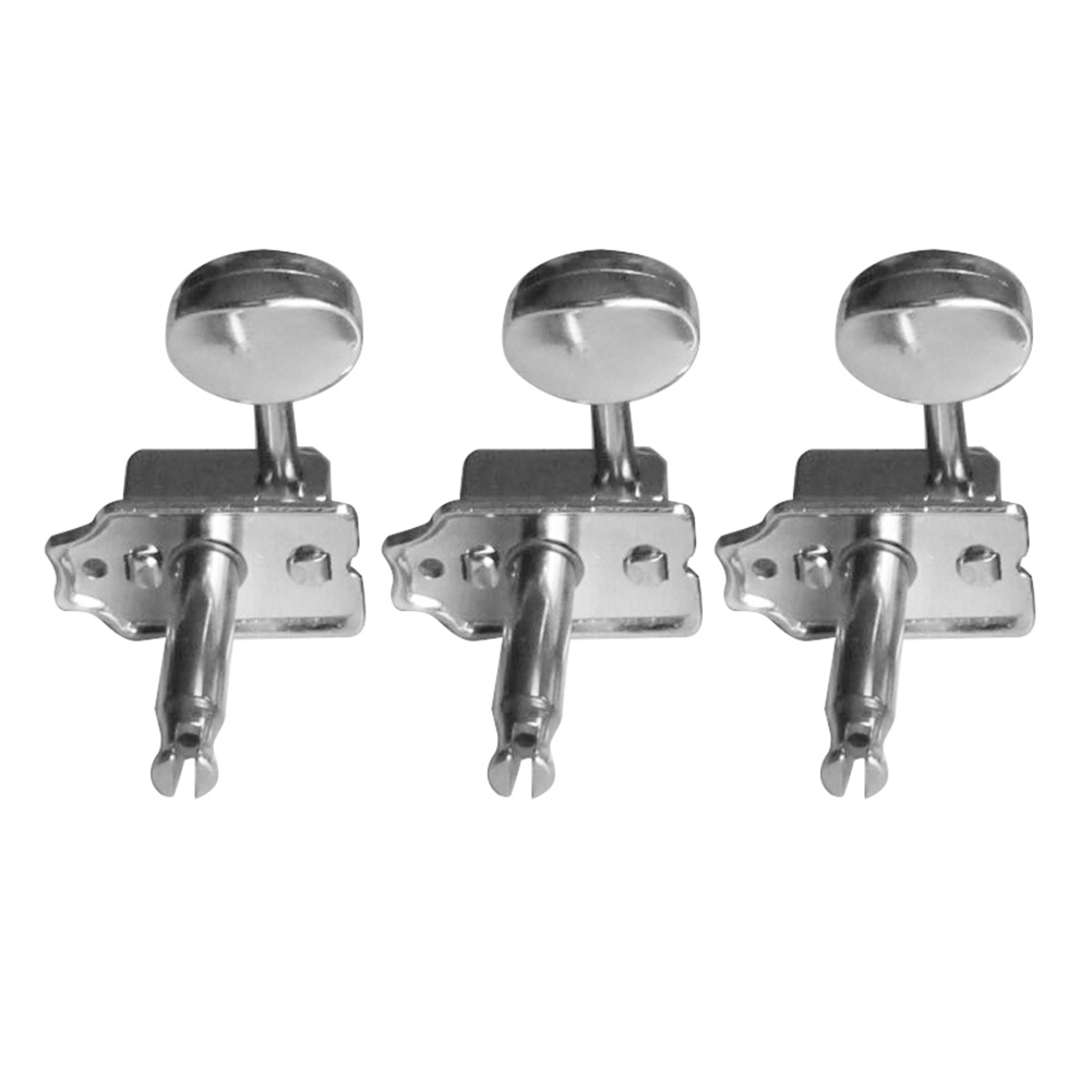 5 PCS of (Split Shaft Vintage Guitar Tuning Keys Pegs Guitar Tuners Machine Heads Chrome) a set chrome sealed gear tuning pegs machine heads tuners for guitar with black big square wood texture buttons