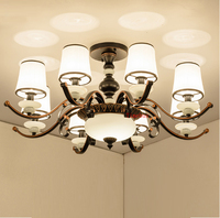 3 10 pcs Modern ceiling chandelier lighting for showcase restaurant iron lamp Retro bedroom chandelier coffee kitchen Bar light