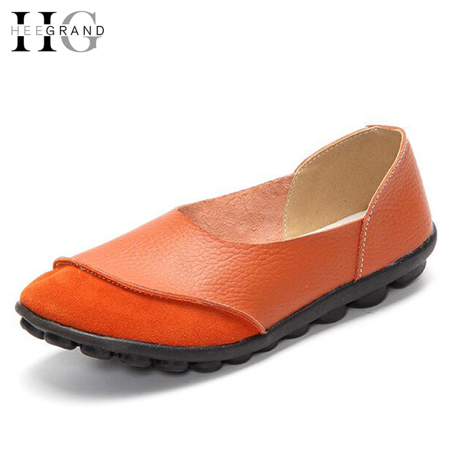 HEE GRAND Women's Flats For Spring PU Artificial Leather Shoes Woman Patchwork Slip On Loafers Summer Size Plus 35-43 XWD4933