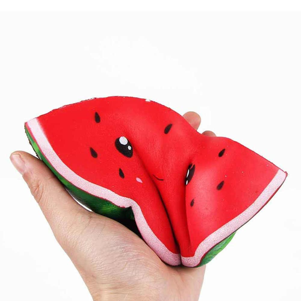 Besegad mignon Kawaii Squishies Anti-Stress pastèque lente augmentation serrer jouets spongieux pour enfants adultes soulage l'anxiété de Stress