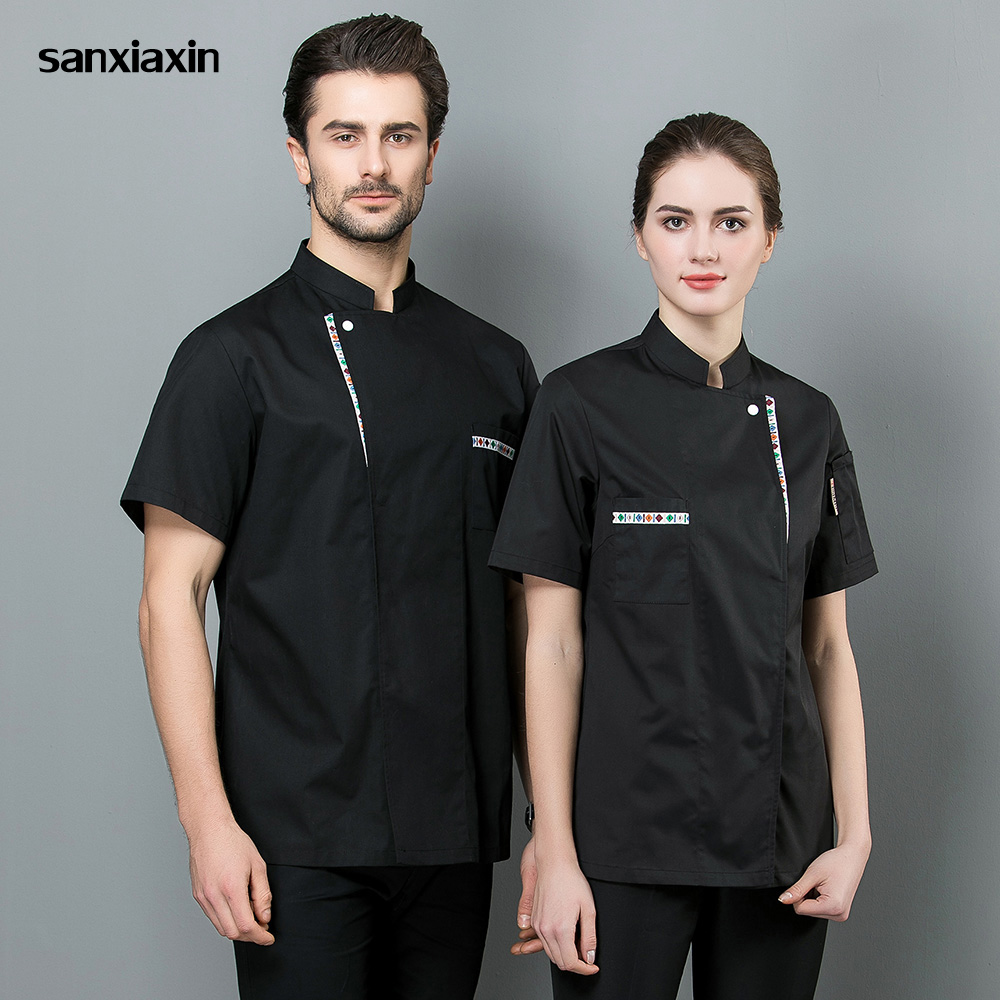 High Quality Chef Uniform Restaurant Hotel Catering Chef Work Shirt Food Service Kitchen Chef Jacket Cooker Work Clothes Unisex