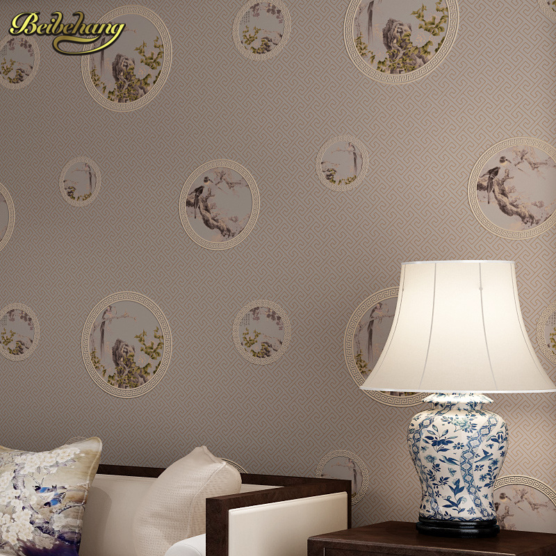 beibehang Simple nostalgia Home Improvement wall paper papel de parede 3D Flocking Wallpaper Rolls for bedroom TV background home improvement 3d wall paper rolls silk wallpaper for walls 3d tropical plant turtle shell back painted watercolor