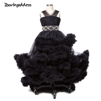 2017 Little Baby Cloud Flower Girl Dresses For Weddings Black Pageant Dresses For Girls Glitz Sexy