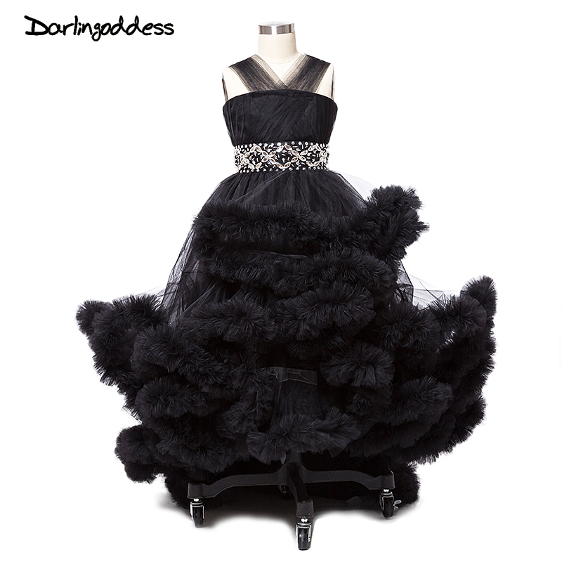 2017 Little Baby Cloud   Flower     Girl     Dresses   for Weddings Black Pageant   Dresses   for   Girls   Glitz Sexy Children Images Prom   Dress