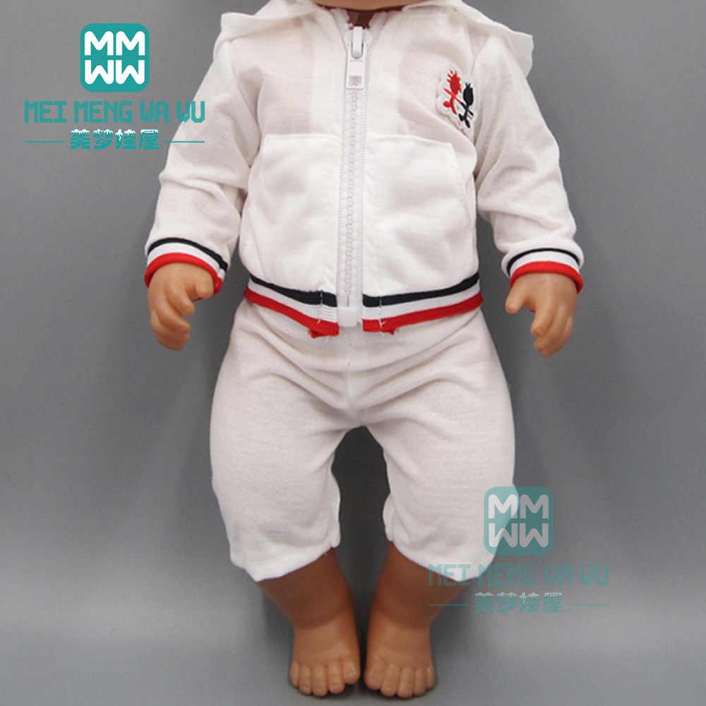 Игрушка Одежда для куклы-младенца розовый повседневное спортивный костюм для 43 см куклы новорожденного и американский куклы интимные аксессуары