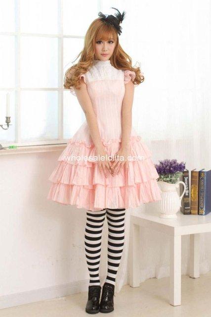Süße hübsche Lolita rosa Prinzessin Kleid 012 Classy Schöne Cosplay ...