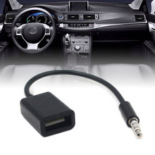 New Arrival 1pc 3.5mm MP3 Male AUX Audio Plug Jack To USB 2.0 Female Converter Cable Cord Car Accessories
