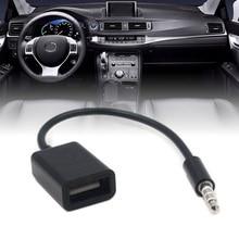 купить New Arrival 1pc 3.5mm MP3 Male AUX Audio Plug Jack To USB 2.0 Female Converter Cable Cord Car Accessories дешево