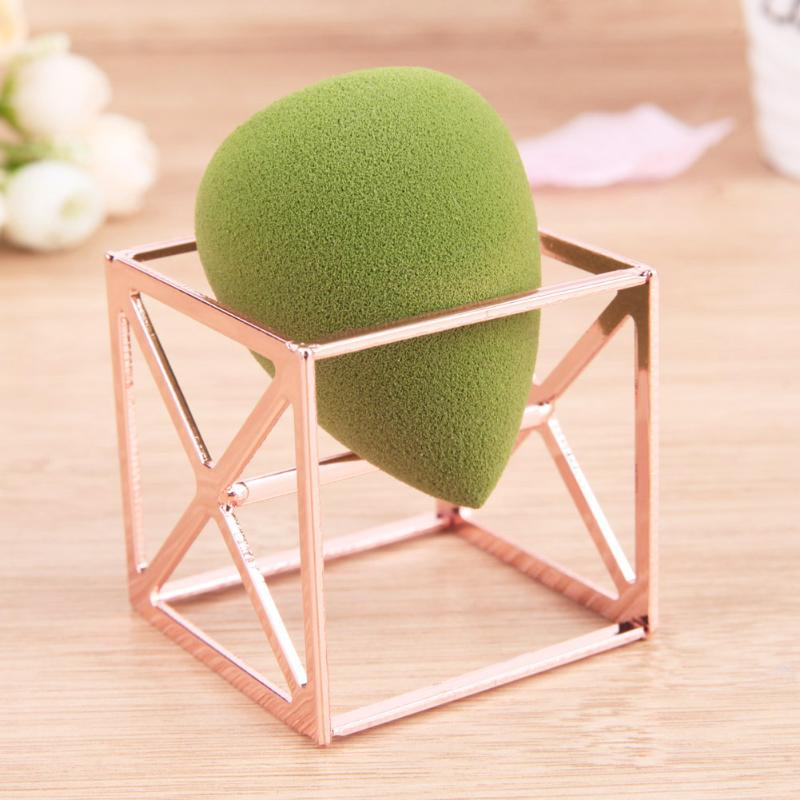 Square Base Cosmetic Sponge Powder Puff Blender Display Drying Stand Holder Rack Support font b Makeup