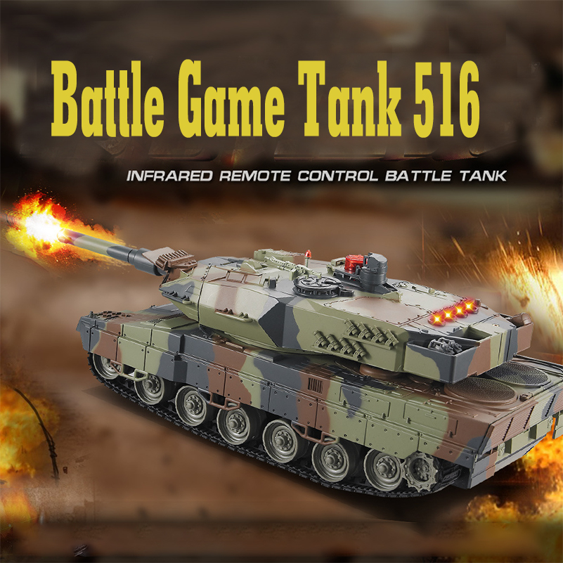 Mini 516 RC Tank Toys With Fighting Infrared Ray LED Remote Control Battle Tanks Model Outdoors Shoot Robot RC Toys for Kid Gift new arrival rc tank infrared battle remote control rotate fighting car high quality models toys for kids intelliengence