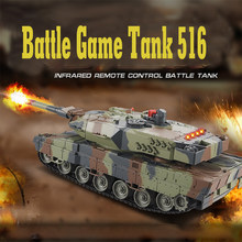 Mini 516 RC Tank Toys With Fighting Infrared Ray LED Remote Control Battle Tanks Model Outdoors Shoot Robot RC Toys for Kid Gift(China)