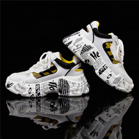 Graffiti Heels Leather Chunky Platform Sneakers Women Summer Hollow Women Shoes Ladies Colorful Sneakers Casual Soft Sneakers