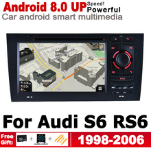7 inch Android 8.0 up For Audi S6 RS6 4B 4F 1998~2006 MMI HD Touch Screen Car Radio DVD Player GPS Navigation Multimedia System new original 7 2 inch lte072t 4401 1 lte072t 4401 lcd display screen panel peogeot car dvd gps navigation system