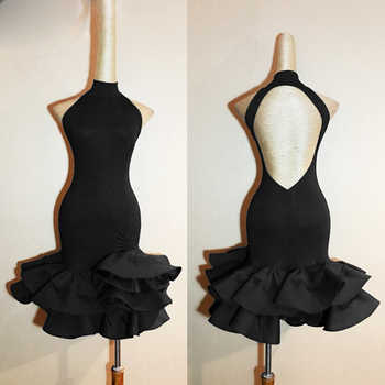 Latin Dance Dress Women 2018 New Adult Costume Latin Dance Competition Dresses Clothes For Salsa Black Dance Dress L94 - DISCOUNT ITEM  20% OFF All Category
