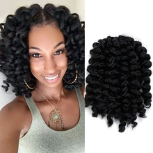 Jumpy Wand Curl Crochet Braids Hair for Women Synthetic 8 Inch Jamaican Bounce Synthetic Crochet Hair Extension WTB