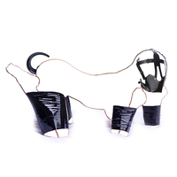 Puppy Play Fantasy Bondage costume accessories,Dog Tail Butt Plug,Harness hood with Ball Gag,non sticky tape,sex role play