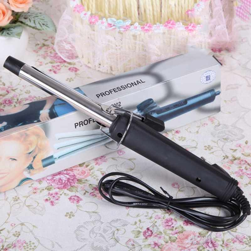 EU Plug Pro Hair Volume Curl Curling Make Iron Temperature Stainless Steel Hair Curler Waver Maker Roller 051#(China)