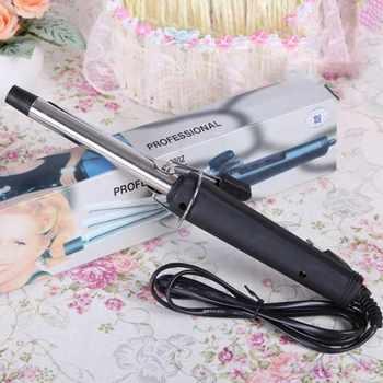 EU Plug Pro Hair volumen Curl rizador hace que el rizador de pelo de acero inoxidable de temperatura de hierro fabricante de cera rodillo 051 #