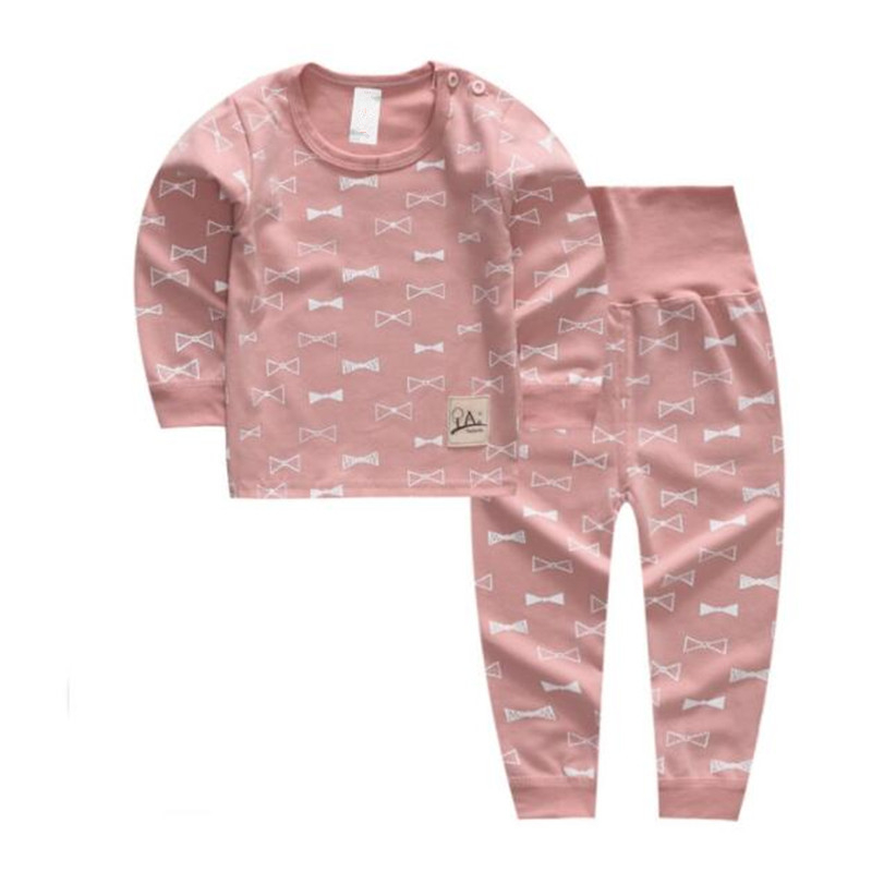 LILIGIRL Kids Pajamas Set for Girls Cotton Cothes 2 years Autumn Baby Long-Sleeve Cartoon Tops+Pants Overalls Suit Coatume ...