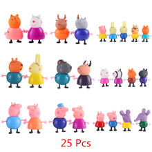 Hot sale Peppa Pig toys Pink  Friends Emily Suzy Danny Rebacc peppa pig Figure Toys For Kids birthday Christmas Gifts