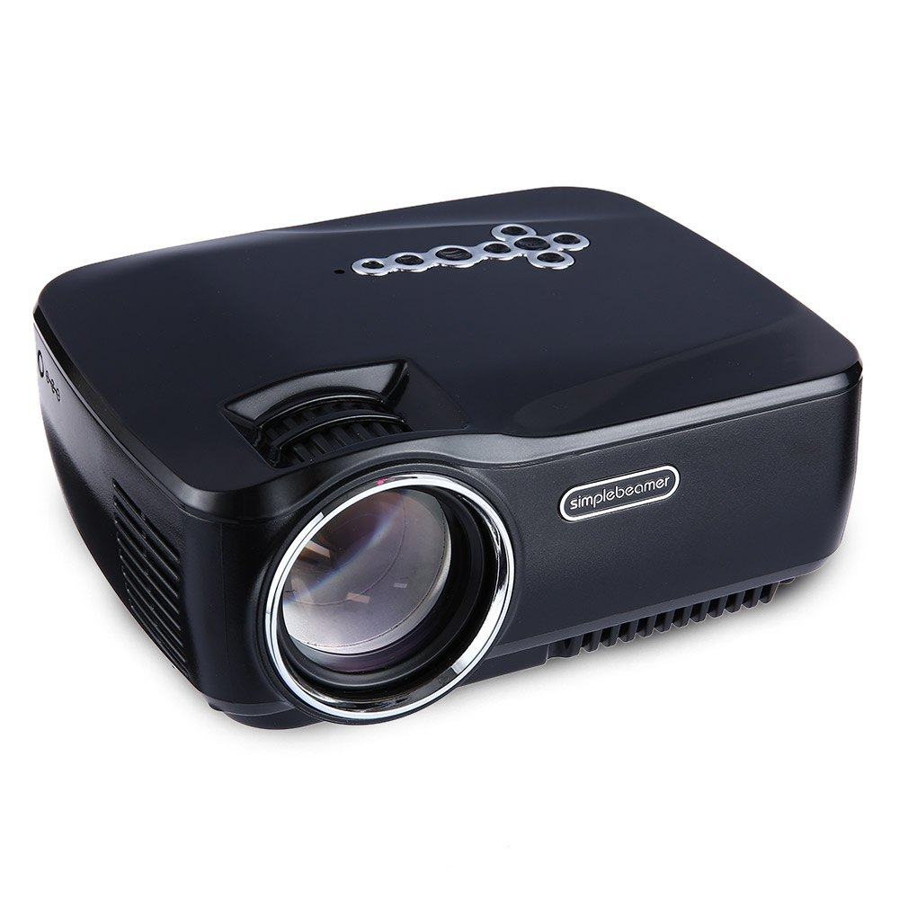 800 Lumens Home Theater Mini Portable Led Multimedia: GP70UP Mini Portable LCD Projector Full HD 1080P 1200