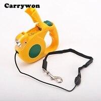 Carrywon Thú Nuôi Chó Mèo Noctilucence Đêm Tự Động Linh Hoạt Collars An Toàn LED Flash Ánh Sáng Dog Leash Harness Vật Nuôi Nguồn Cung Cấp