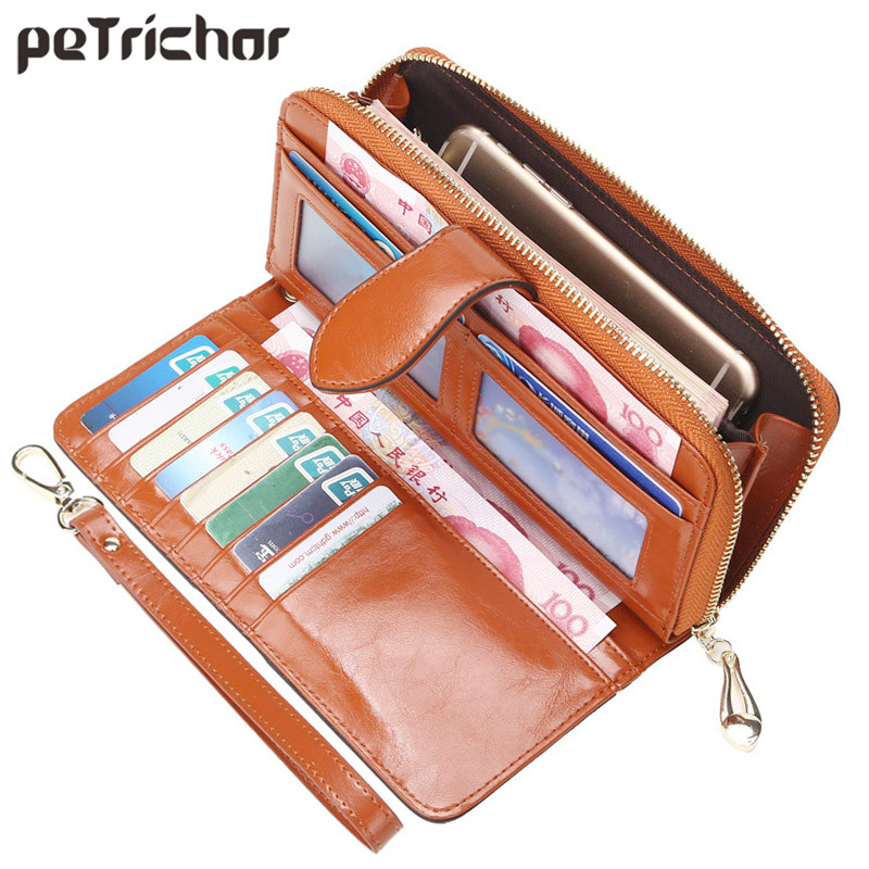 Hot Selling Many Departments Women Wallet High Quality Wristlet Clutch Wallet Female Card Holder Leather Ladies Long Purses Save 50-70% Luggage & Bags
