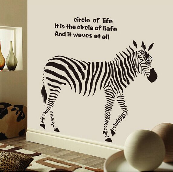 Compare Prices On Zebra Wall Decals Online ShoppingBuy Low Price - Wall decals online