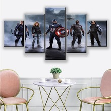 Canvas Art 5 Piece Pictures Captain America's Team In The Avengers Civil War for Living Room Wall Decoration Painting By Numbers civil war in kerry