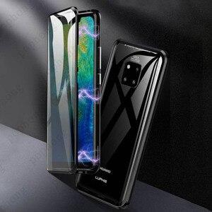 Image 2 - Роскошный защитный чехол из закаленного стекла для телефона, Магнитный чехол для Huawei P20 PRO, Huawei P30 PRO Mate 20 pro, honor View 20, ударопрочный чехол для дома