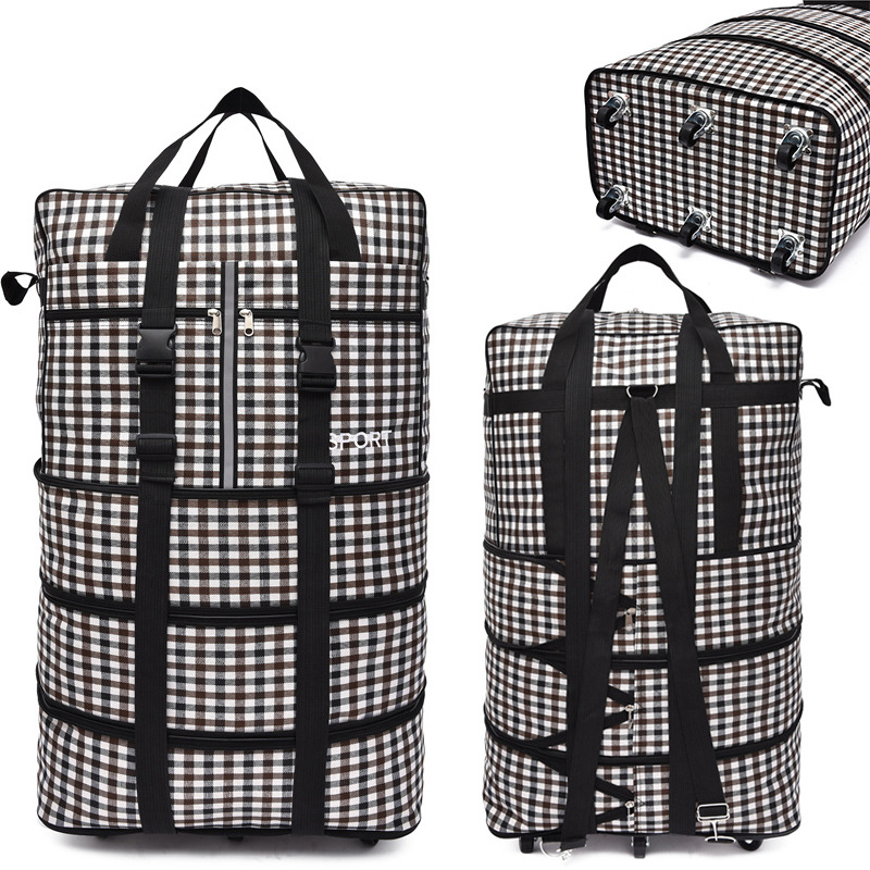 Image 2 - Large capacity Portable Travel Bag Rolling Luggage Can Expand 
