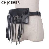 Chicever 2017ヴィンテージベルト女性摩耗をロープパッケージでタッセル黒puタッセル女