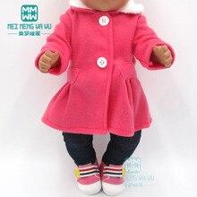 Одежда для куклы подходит 43 см игрушка новорожденная кукла и американские кукольные аксессуары меховой воротник пальто+ детские колготки