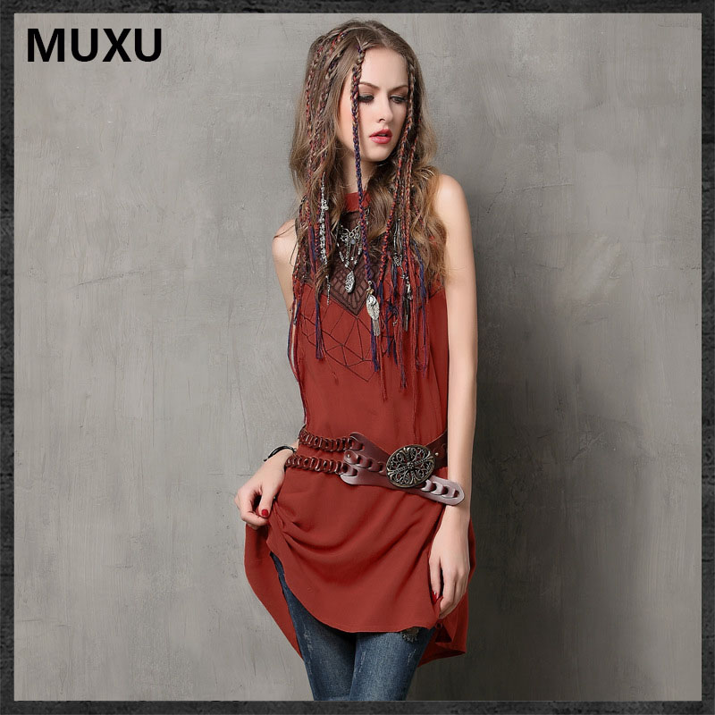 MUXU summer sexy vestidos vintage dress embroidery font b womens b font font b clothing b
