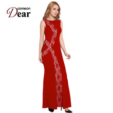 RB80054 Special design elegant long dress summer style women dress o-neck sleeveless floor - length 2017 new maxi dress