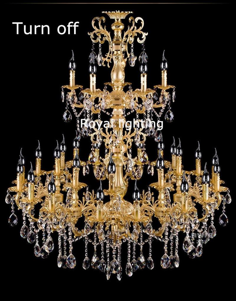 projekts antīkās 29 galvas zelta led lustra kristāla droplight - Iekštelpu apgaismojums - Foto 5