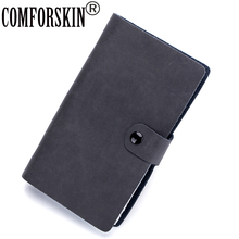 COMFORSKIN New Arrivals Split Leather Unisex Credit Card Holders Multi-function Large Capacity 90 Pages Wallet Case 2017